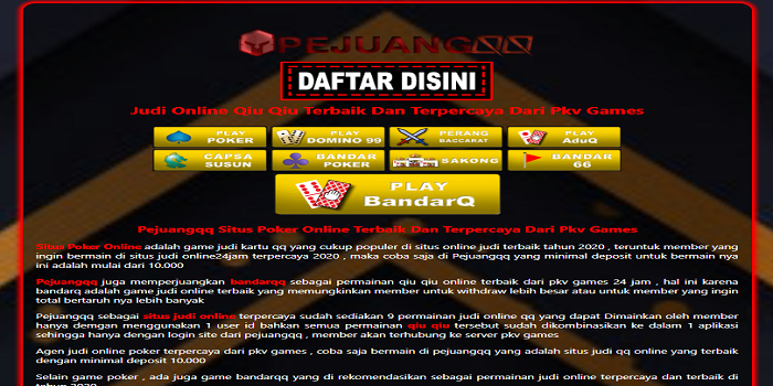 Online Poker – Play In Real & Legal Money situs judi poker